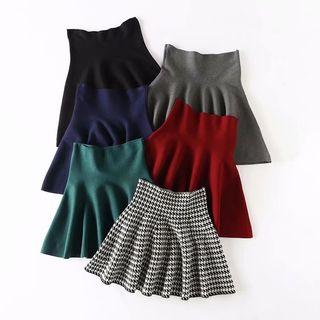 High-waist Mini Knit Skirt