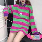 Long Sleeve Striped Polo Shirt