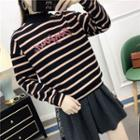 Crewneck Striped Knitted Sweater