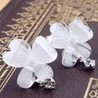 Jeweled Butterfly Studs White - One Size