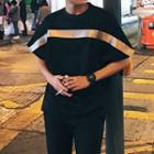 Ribbon Applique Short Sleeve T-shirt