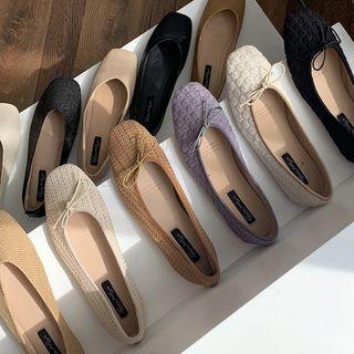 Patterned Ballerina Flats / Square Toe Flats