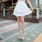 Lace Trim A-line Skirt