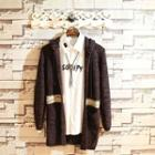 Color Block Knit Hooded Jacket