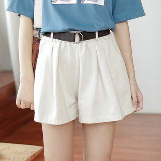 Wide-leg Shorts White - One Size