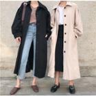 Plain Long Jacket With Sash