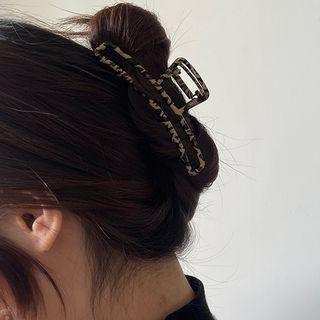 Leopard Print Alloy Hair Clamp As Shown In Figure - One Size