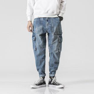 Washed Cargo Jeans