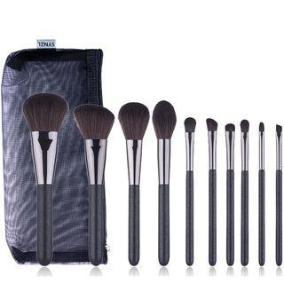 Set Of 10: Makeup Brush Set Of 10: Black - One Size
