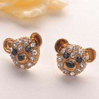Diamond Bear Earring  Gold - One Size