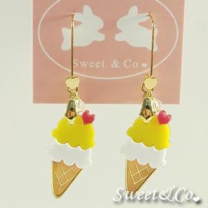 Mini Lemon Ice-cream Gold Earrings
