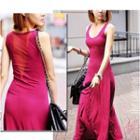 Sleeveless Maxi Sheath Dress