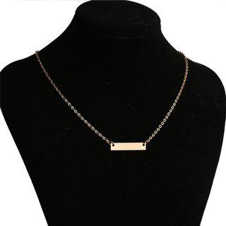 Alloy Bar Pendant Necklace Gold - One Size