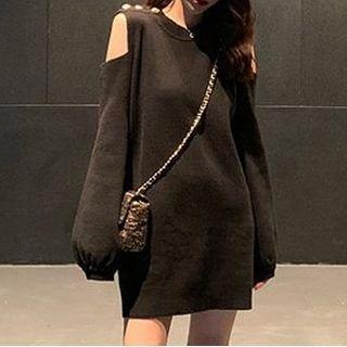 Cold-shoulders Knit Dress