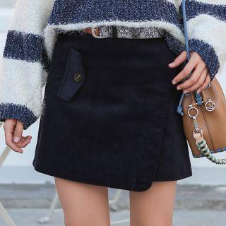 High Waist Mini A-line Skirt