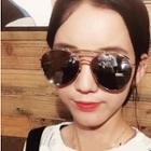 Metal Oversize Mirrored Sunglasses