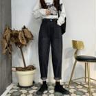 High Waist Taper Jeans