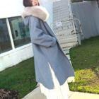 Furry Hood Zip Coat