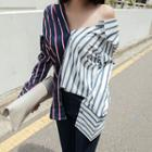 Color-block Striped Shirt