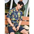 Linen Blend Hawaiian Shirt