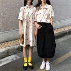 Short Sleeve Printed Shirt / Dress