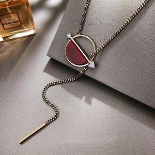 Rhinestone Arrow Necklace