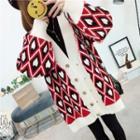 Heart Printed Loose-fit Cardigan