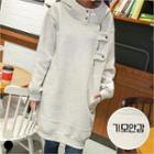 Hooded Snap-button Pullover Dress