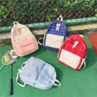 Plaid Zip Canvas Backpack