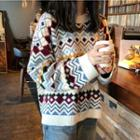 Pattern Sweater White - One Size