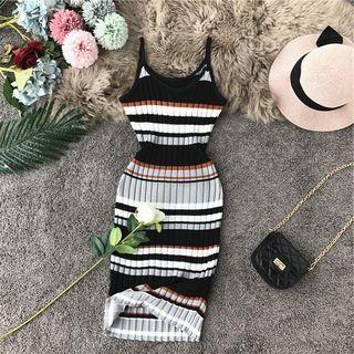 Color-block Stripe Sleeveless Dress
