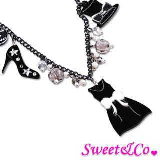 Lbd X Sweet&co. Mono Charms Necklace Black - One Size