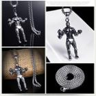 Stainless Steel Man Pendant Necklace