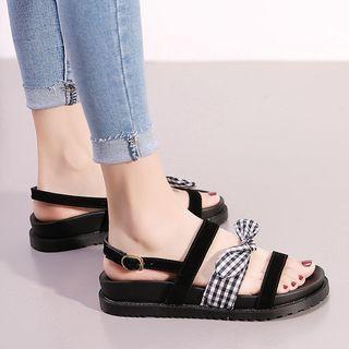 Platform Ribbon Sandals
