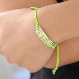 Cool Thread Bracelet Light Green - One Size