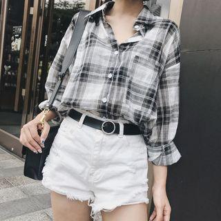 Plaid Shirt Plaid - One Size