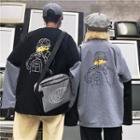 Mock Two-piece Pried Sweatshirt