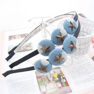 Stars Hair Band - Light Blue (1 Piece )