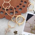Golden Bracelet With Shiny Cross Pendant