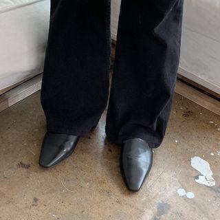 Flat-heel Pleather Mules