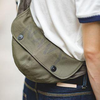 Snap-button Crossbody Bag  - Army Green