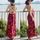 Backless Floral Maxi Sun Dress