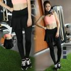 Inset Skirt Sports Leggings