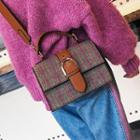 Buckled Check Crossbody Bag
