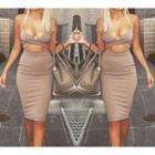 Cutout Midi Bodycon Dress