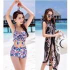 Set: Printed Bikini + Beach Cover Up