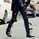 Metal Accent Skinny Pants
