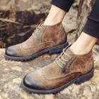 Lace-up Brogue Boots