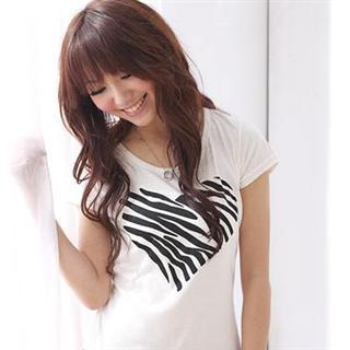 Heart Print Tee-shirt