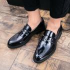 Patent Studded Loafers
